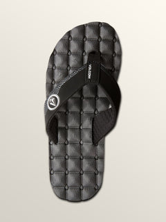 Recliner Sandals - Black White