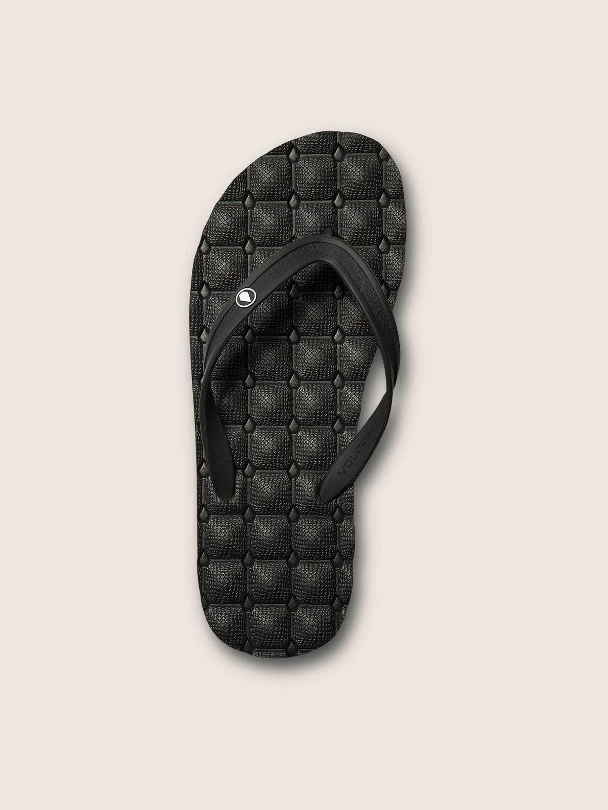 Recliner Rubber 2 Sandals - Black