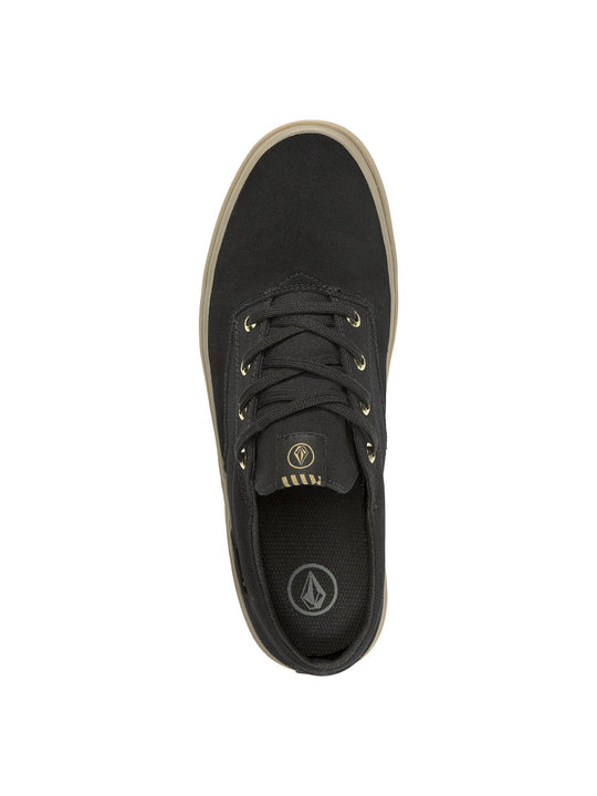 Draw Lo Suede Shoe - Black Out (V4011899_BKO) [B]