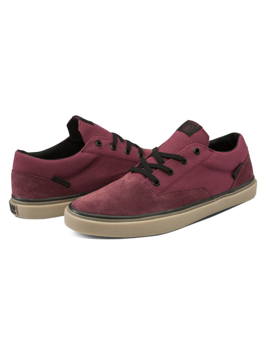 Draw Lo Suede Shoes - Burgundy