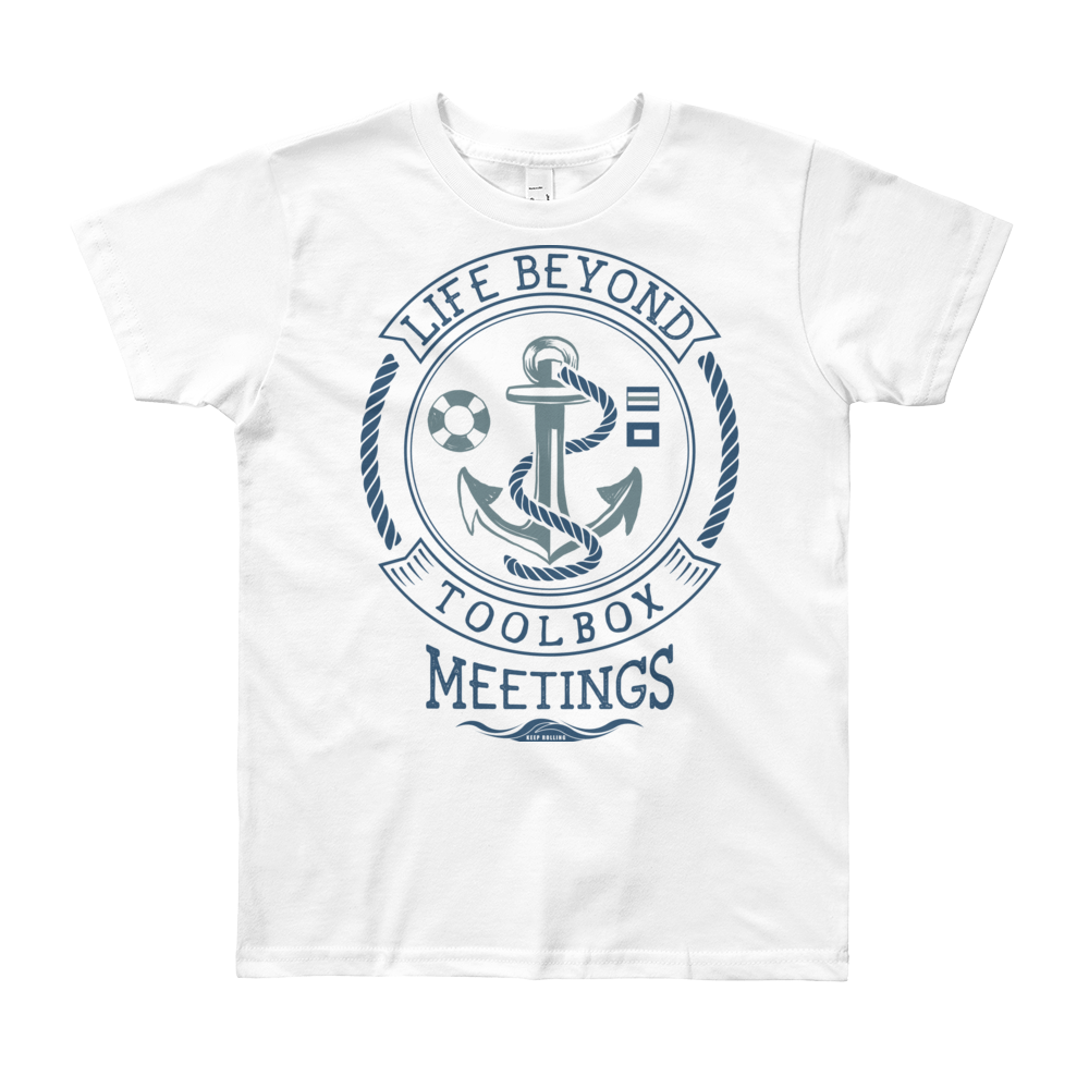 Dark Blue Toolbox Meetings - Short Sleeve T-Shirt - Life Beyond