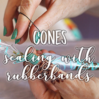 Henna Cones: Sealing with rubber bands