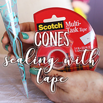 Henna Cones: Sealing Using Tape