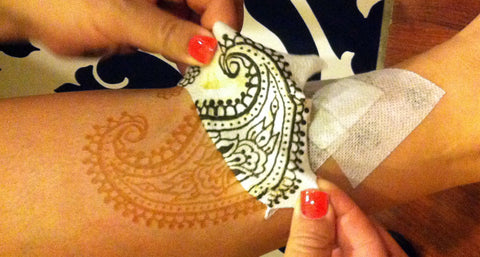 henna sealed in tape