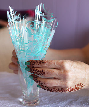 how to fill henna cones