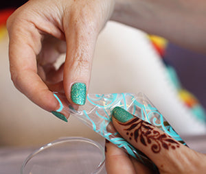 how to seal a henna cone with tape