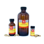 Cardamom essential oil in various sizes