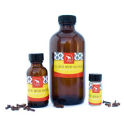 Clove bud essential oil in various sizes