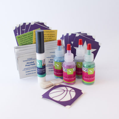 Basketball Glitter Tattoo Kit, Waterproof