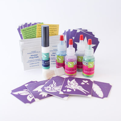 Birds & Butterflies Glitter Tattoo Kit, Waterproof