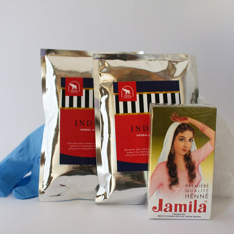 Dark Brown Warm (dark hair) - Deluxe Natural Hair Color Kit
