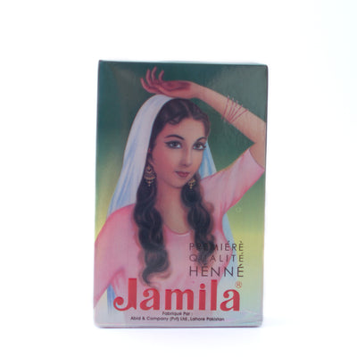 Pakistani henna powder in box Jamila brand