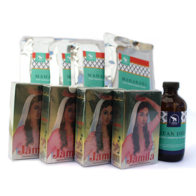 Professional henna kit with 800 grams henna powder with 8 ounces essential oil