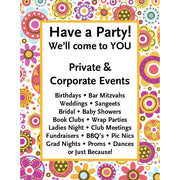 Party in the Garden Laminate Sign Set