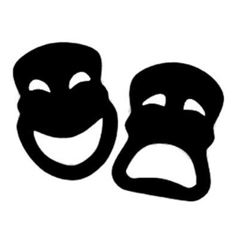 Theatre Masks, Comedy & Tragedy