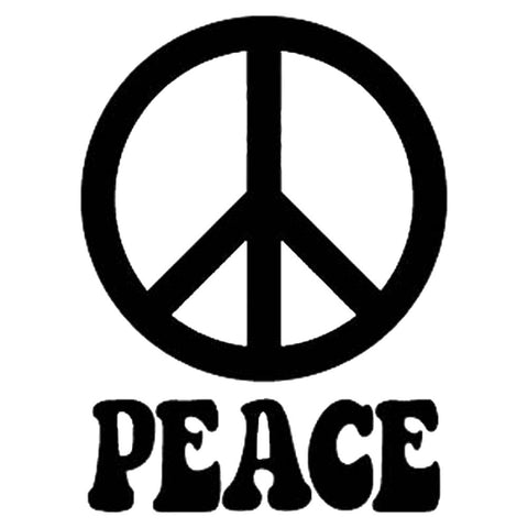 Peace Sign and word