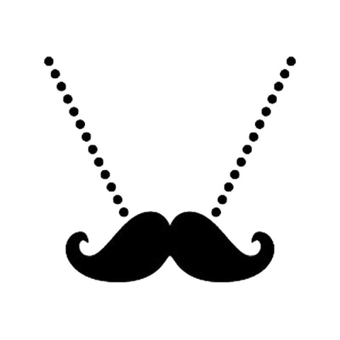 Necklace Moustache, large