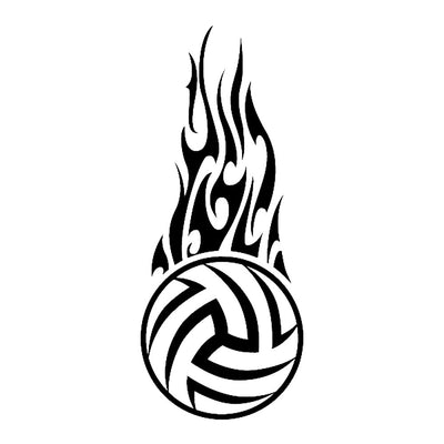 Volleyball Flames, large