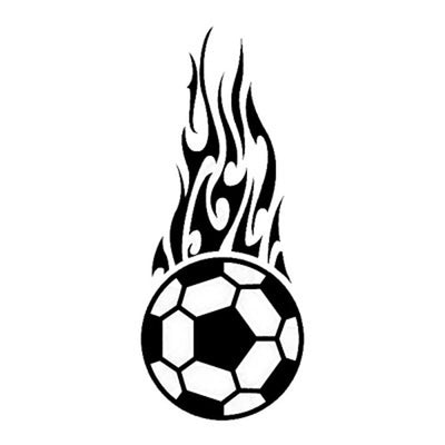 Soccerball Flame, large