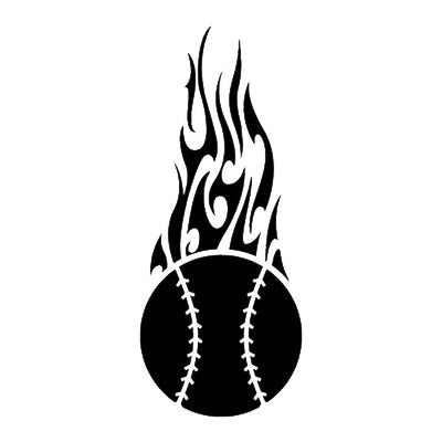 Baseball Flame, large