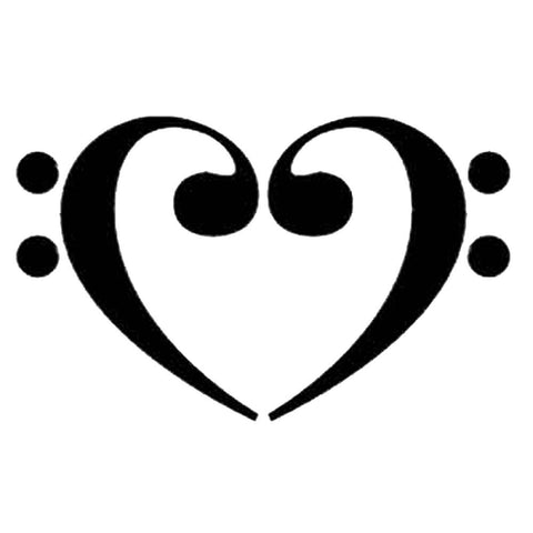 Bass Clef Heart