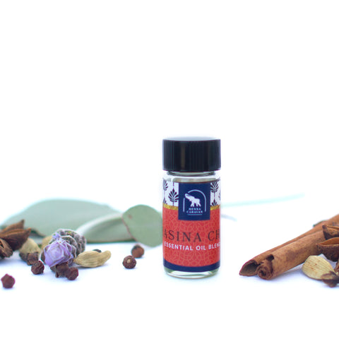 1.5 drams hasina chai essential oil for 20 g henna