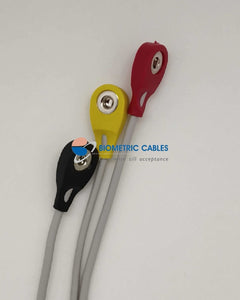 3 Lead Ecg Monitoring Cable(Button/snap) Compatible For Akas