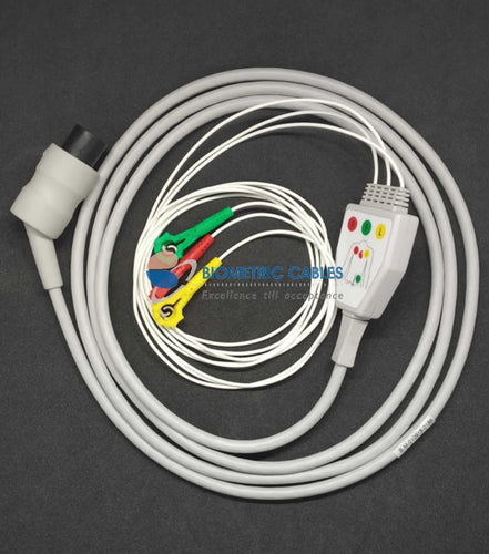 3 Lead Ecg Monitoring Cable(Neonatal Clip) Compatible For Schiller /bpl/welcare
