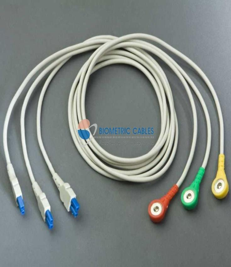 3 Lead Ecg Wires(Button/snap) Ge Lead