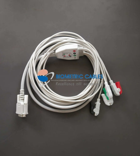 4 Lead Ecg Cable For Ti Ads1292-Clip On