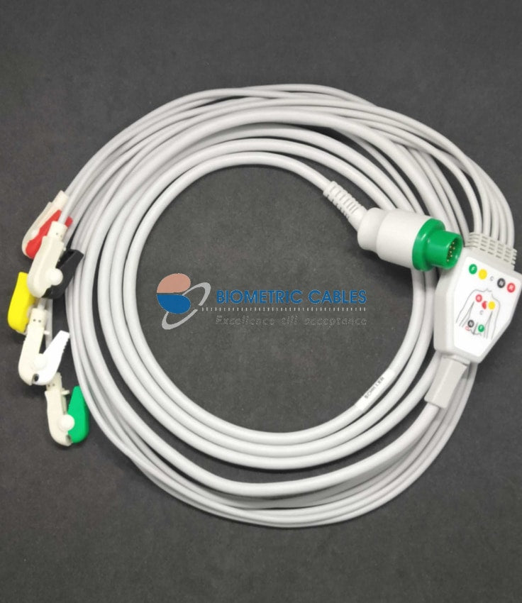 5 Lead Clip On ECG Cable