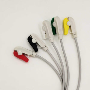 5 Lead Ecg Monitoring Cable(Clip) Compatible With Ge