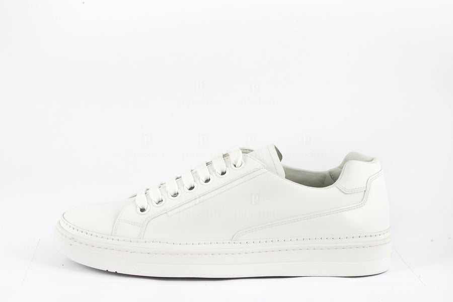 Prada-Calzoture Bianco Nevada Calf Sneakers