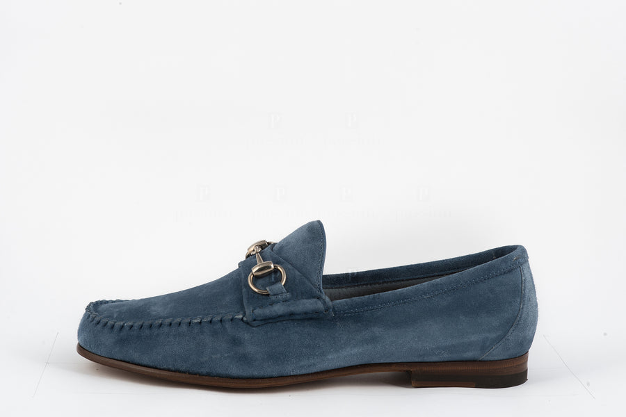 Gucci-Suede Cachemire Deep Thunder Loafer
