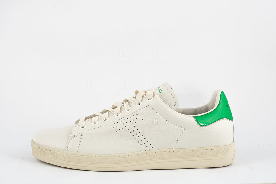 Tom Ford-White Green Low Top Sneakers