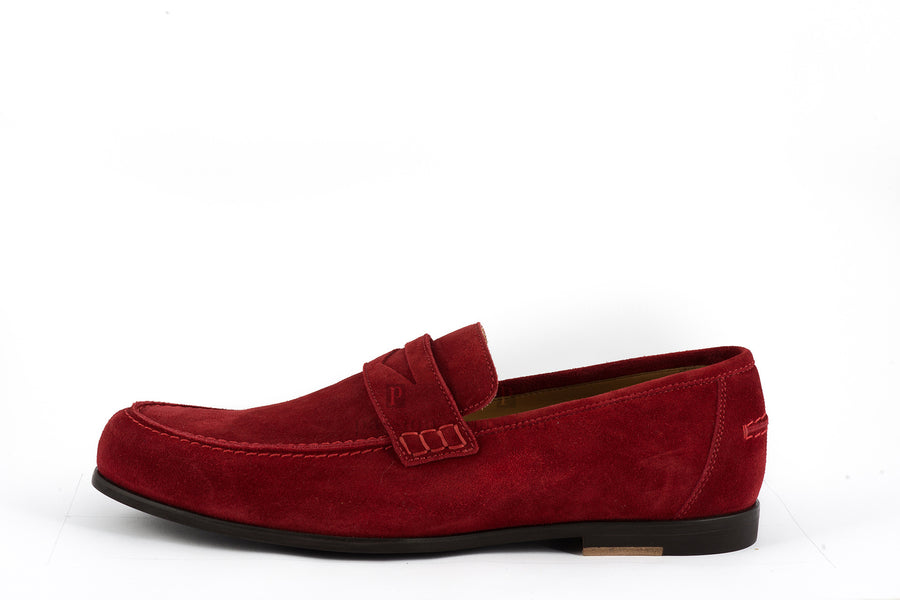 Jimmy Choo-Darblay Soft Suede Claret Loafer