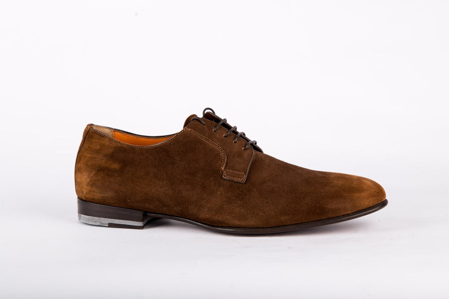 Santoni-Suede Artu Siena Shoes