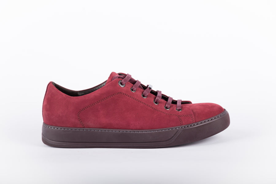 Lanvin-Nubuck Calfskin Low Top Sneakers