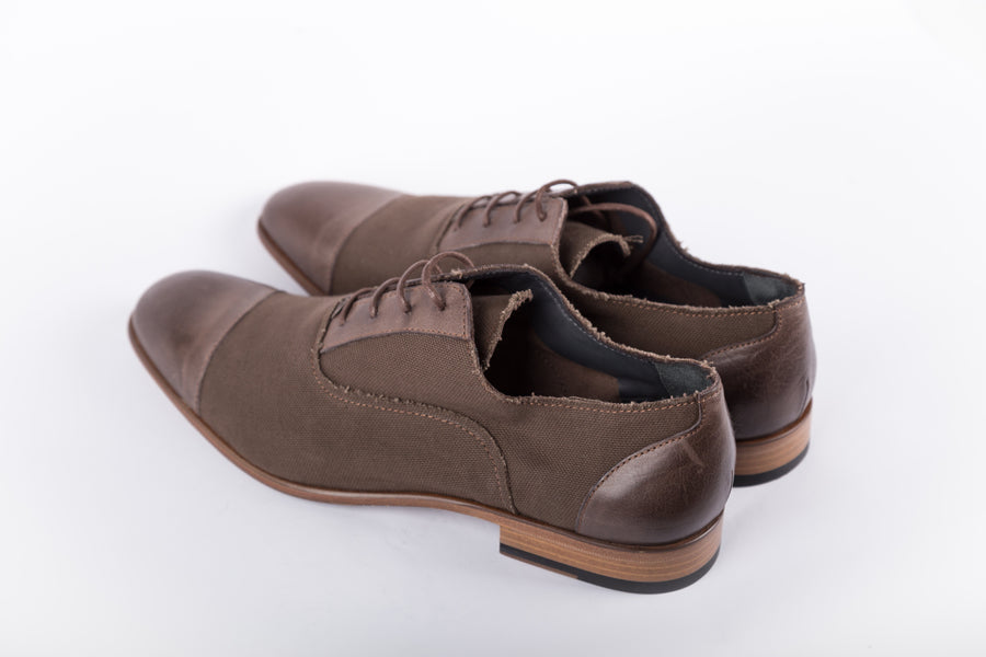 Lanvin-Washed Canvas Nubucked Shoes