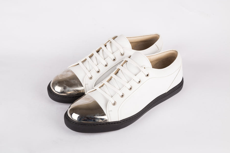 Louis Leeman-Amalfi Bianco Whi̇te Low Top Sneakers