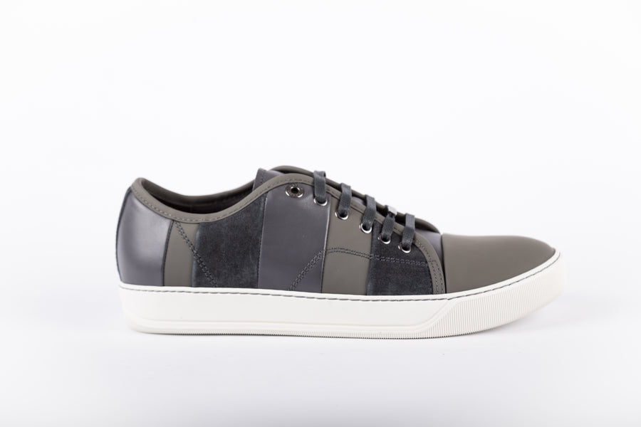 Lanvin-Multi Stripes Mix Calfskin Low Top Sneakers
