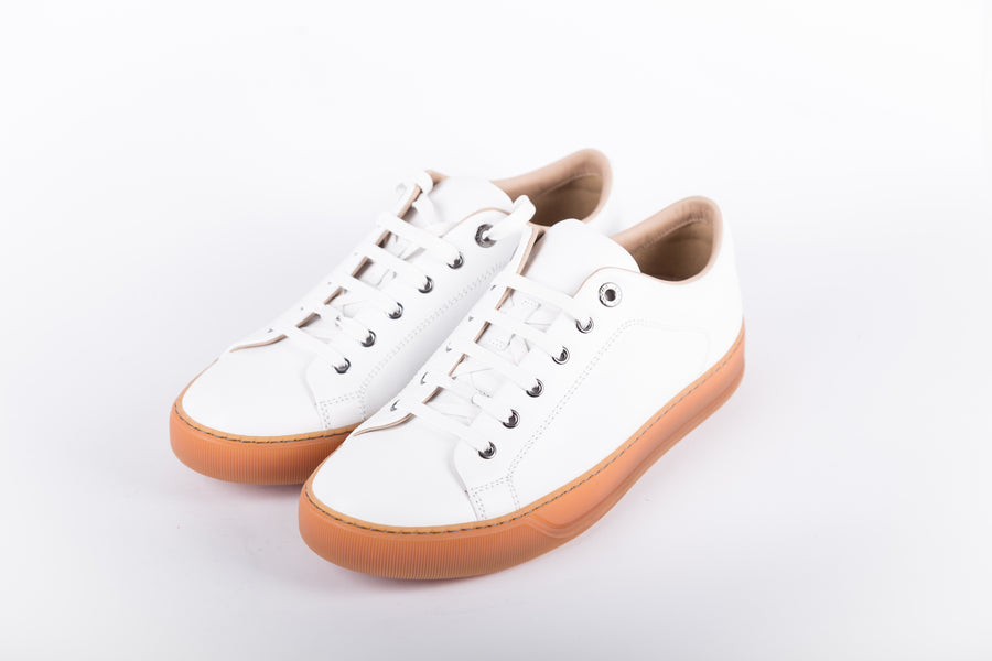 Lanvin-Raw Edges In Calf Low Top Sneakers