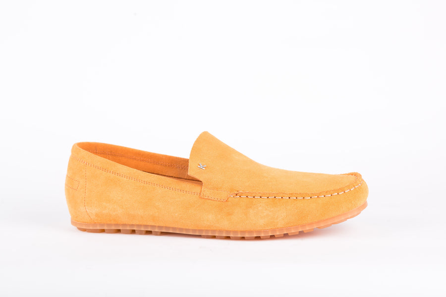 Kenzo-Angel Veau Velours Orange Loafer