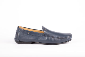 Cesare Paciotti-Nappa Soft Navy Loafer