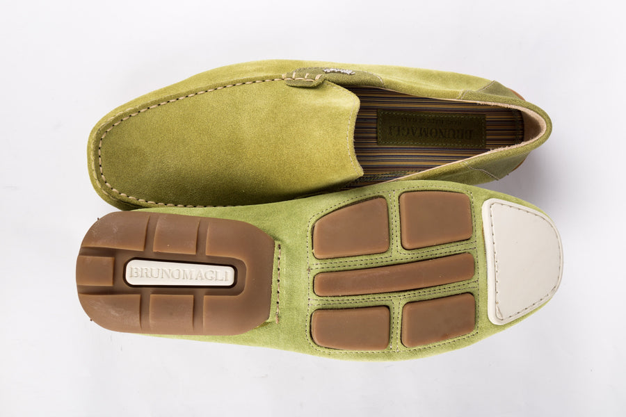 Bruno Magli-Light Green Combo Loafer