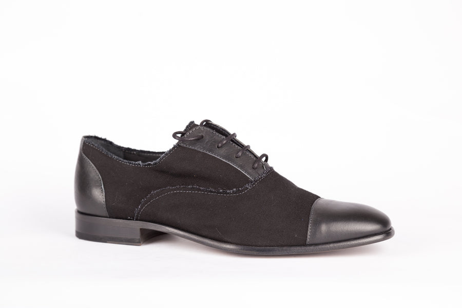 Lanvin-Washed Canva Nubucked Shoes