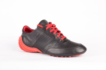 Ralph Lauren-Tallis Black/Red Soft Sneakers