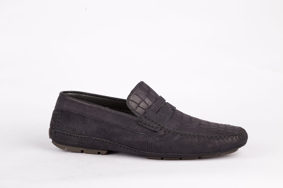 Moreschi-Nero Scuro Tucson Loafer