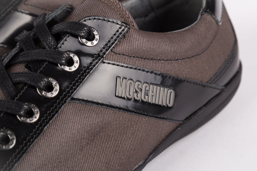 Moschino-Brush/Cord Lux Nero/Mastice Sneakers