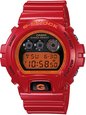 G-Shock Men's Red Resin Strap Watch DW6900CB-4